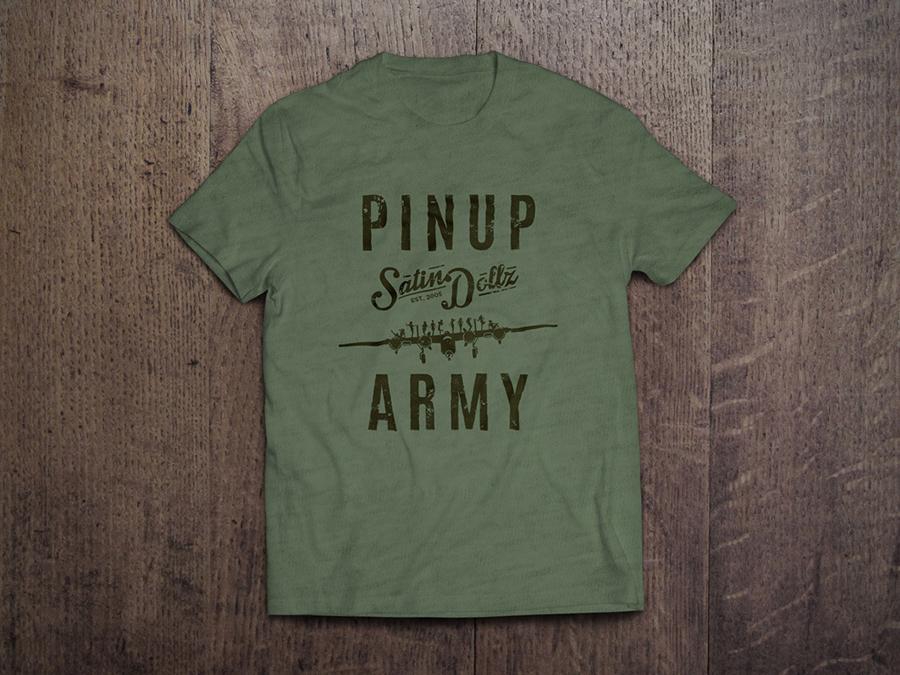 pinuparmy_t-shirtmu_hthrmilgrn_brown